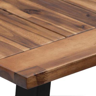 vidaXL Ruokapöytä täysi akaasiapuu 180x90 cm