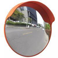 vidaXL Kupera liikennepeili ulkokäyttöön PC-muovi 45 cm oranssi
