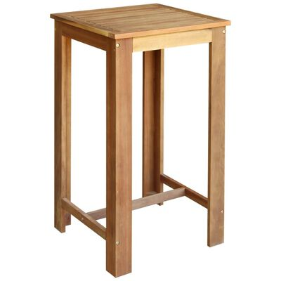 vidaXL Baaripöytä ja -tuoliryhmä 5 osaa kiinteä akaasiapuu