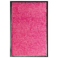 vidaXL Ovimatto pestävä pinkki 40x60 cm