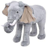 vidaXl Seisova pehmolelu norsu harmaa XXL