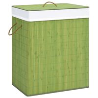 vidaXL Bambu pyykkikori vihreä 100 l