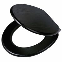 Tiger Soft-Close WC-istuin Blackwash MDF musta 252030746