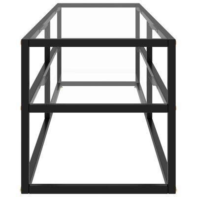 vidaXL TV-taso musta karkaistu lasi 140x40x40 cm