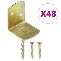 vidaXL Aitapaneelin kiinnikkeet 48 kpl L-muoto galvanoitu metalli