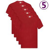 5 Fruit of the Loom Original T-paita 5 kpl punainen M puuvilla