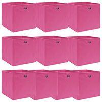 vidaXL Säilytyslaatikot 10 kpl pinkki 32x32x32 cm kangas