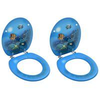 vidaXL WC-istuimet kansilla 2 kpl MDF syvänmerenkuosi
