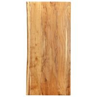 vidaXL Kylpyhuoneen peilipöydän levy täysi akaasiapuu 120x55x2,5 cm