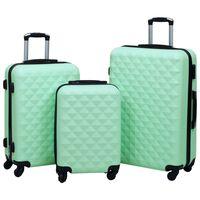 vidaXL Kovapintainen matkalaukkusetti 3 kpl mintunvihreä ABS