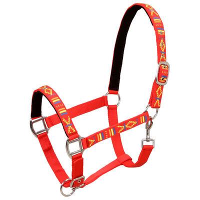 vidaXL Hevosen riimut 2 kpl nailon keskikokoinen punainen