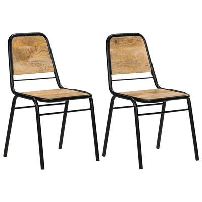 vidaXL Ruokapöydän tuolit 2 kpl täysi mangouu